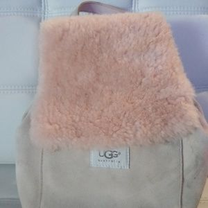 UGG Backpack Purse in pale pink suede